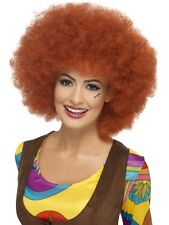 LADIES QUALITY 1960s DISCO GROOVY AUBURN GIANT HUGE AFRO WIG FANCY DRESS