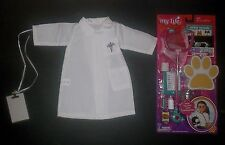 "Vet accessories, Dr. lab coat, clipboard my life as fits 18"" American girl doll"