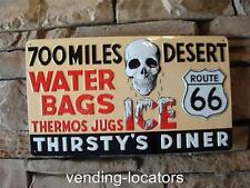 Route 66 Shield Metal Road Rustic Garage Bar Diner Wall Decor Diner Man Cave USA