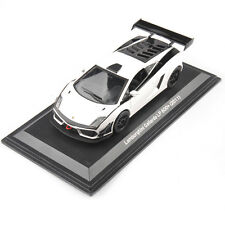 1:43 Scale Diecast Model Racing Car Toys Lamborghini White GT3 Gallardo LP 600+