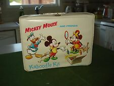 1963 MICKEY MOUSE AND FRIENDS KABOODLE KIT (VINYL LUNCHBOX) NICE GRAPHICS