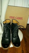 Low boots cuir P38 PARE GABIA bottines pin up rétro vintage robe  escarpins