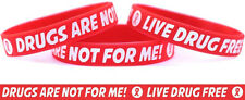 Live Drug Free Wristband - Drugs Are Not For Me Bracelet - Red Ribbon Week Band