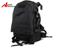 US Army Military Hunting Camping 3Day Moll Tactical Assault Backpack Bag Black