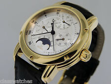 Gevril Perpetual Calendar MoonPhase 18k Gold Limited Edition 39mm $19500 NIB/NOS