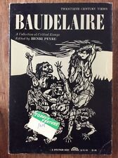 Baudelaire: A collection of Critical Essays (1962 1st Edition Pb) Ed. H. Peyre