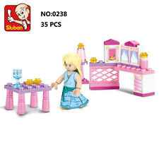 Sluban B0238 Pink Princess Small Room Figures Building Blocks Toy Fit with LEGO
