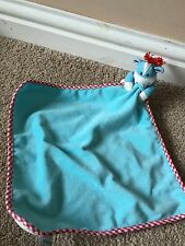 ELC EARLY LEARNING CENTRE DONKEY BLUE RED  SNUGGLE BLANKET COMFORTER SOFT CUTE