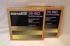 "Used Lot of 2 MAXELL UD 35-180 10.5"" 1/4"" Reel to Reel Metal Recording Tape"