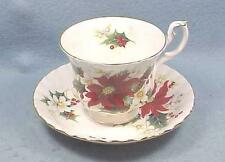 Poinsettia Pattern Tea Cup and Saucer Set