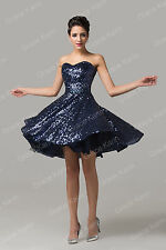 CHEAP Sequins Short Masquerade Dresses Formal Evening Ball Gown Party Prom Dress