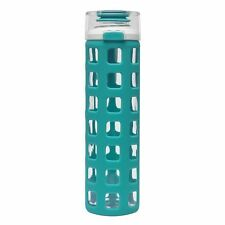 Ello Syndicate BPA-Free Glass Water Bottle with Flip Lid, 20-Ounce Teal BRANDNEW