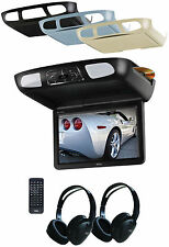 "BOSS BV10.1MC 10.1"" FLIP DOWN LCD TFT OVERHEAD MONITOR W/ BUILT-IN DVD PLAYER"