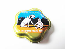 Grammophon NADELDOSE DOG AND BOY gramophone needle tin