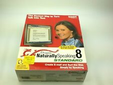 Nuance Dragon NaturallySpeaking Standard 8 ScanSoft With Manual No Headphone