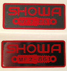 HONDA VF500F REAR SHOCK ABSORBER SHOWA CAUTION WARNING LABEL DECAL