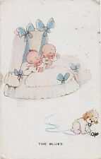 POSTCARD  COMIC  CHILDREN Mabel Lucy Attwell  The Blues