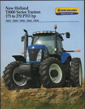 """New Holland 175 to 270hp """"T8000 Series"""" Tractor Brochure Leaflet"""