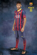Rare FC Barcelona NEYMAR JR. - READY FOR ACTION Spanish La Liga Soccer POSTER