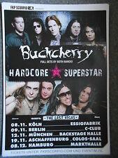 BUCKCHERRY - HARDCORE SUPERSTAR  2013 TOUR   orig.Konzert-Tour-Poster-Plakat