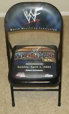 WWE Wrestlemania X7 17 Official Ringside Chair WWF Wrestling 2001 PPV Event