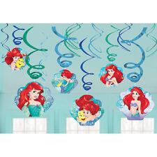 Disney Little Mermaid Ariel Dangling Swirl Decorations Birthday Party Favor