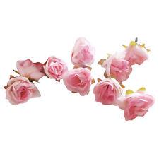 50 Stk künstliche Seide Rosen Köpfe Hochzeit Blumendekoration Hellrosa Sinnvoll