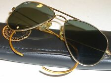 52mm VINTAGE B&L RAY BAN G15 SMALL WRAP-AROUNDs ARISTA AVIATOR SUNGLASSES MINT