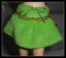 SKIRT  BARBIE DOLL MODEL MUSE JUICY COUTURE GREEN TERRY CLOTH LOGO  BOTTOMS