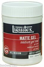 LIQUITEX PROFESSIONAL MEDIUM MATTE GEL 237ml artista dipinge qualità ACRILICO ARTE