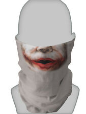 SCARY JOKER FACE DESIGN MASK FANCY DRESS NECK TUBE SNOOD NECK WARMER L&S PRINTS
