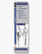 Staedtler Lumograph Drawing Pencil Tin - 6 Soft Grades