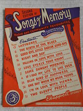 Vintage Songbook - 2nd Edition of Songs of Memory - Chappell *Rare*