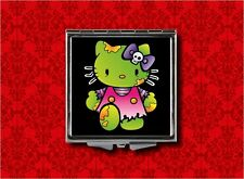HELLO ZOMBIE KITTY CAT PSYCHOBILLY GOTH MAKEUP POCKET COMPACT MIRROR