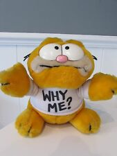 Rare Vintage Retro Garfield Why Me Original 1980's Soft Plush Cuddly Toy 80's