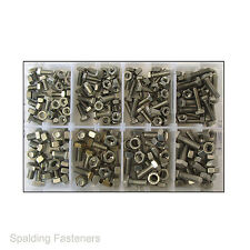 Assorted M6 & M8 Metric A2 Stainless Steel Hex Head Set Screw Bolts & Full Nuts