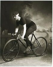 Vintage Bicycle Racer Old Time Bike Racing Clothes Shoes Hat Curved Handlebars