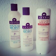 3 pack Aussie Miracle MOIST: Shampoo + Conditioner + 3min  RECONSTRUCTOR