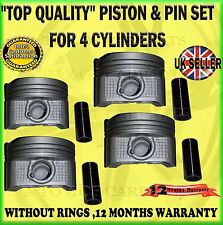 FOR AVENSIS RAV 4 MR2 MR-2 MRS MR-S 1.8 1ZZFE 99-07 STANDARD PISTON SET X4