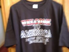 """Welcome to America Now Speak English"" T-Shirt 100% Cotton Size L Black"