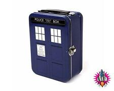 NEW OFFICIAL BBC DR WHO TARDIS 50TH ANNIVERSARY LUNCH BOX TALL TIN TOTE CASE