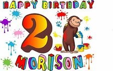 Personalized Curious George Birthday T Shirt or Onesie Curious George Shirt 363