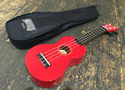 Mahalo Red Soprano Ukulele Fitted Aquila Strings and Gig Bag