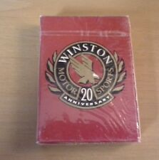Winston Motor Sports 20th anniversary playing cards in Sealed Package