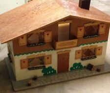 Dollhouse, Furniture & Swiss Doll Family- Vintage FAO Schwarz NY- Original Owner