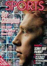 Magazin Sports 11/1990,Boris Becker,Hertha BSC Berlin,Körbel,Ferrari,St. Moritz