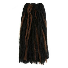 "16 ""Dreadlock Cabello Weft Extensiones-Negro Y Marrón Medio"