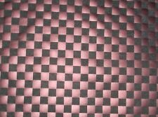 Black Dark Pink Checker Board Stretch Poly Spandex Fabric By The Yard ~ 2 colors