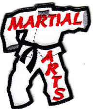 """""""MARTIAL ARTS"""" PATCH /Iron On Embroidered Applique Patch, Sports,Games"""