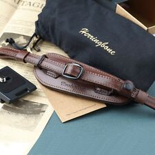Herringbone Heritage Leather Camera Hand Grip Strap(Antique Brown) w/ Plate